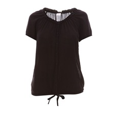 Blouse  en voile chiffon noir