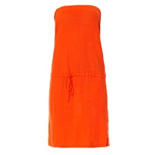 Robe bustier orange
