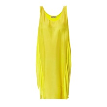 Robe Tshirt bi-matire jaune fluo