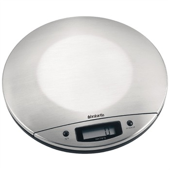 Brabantia Matt Steel Digital Kitchen Scales