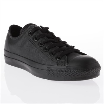 Converse Women's Black Leather Oxford Trainers