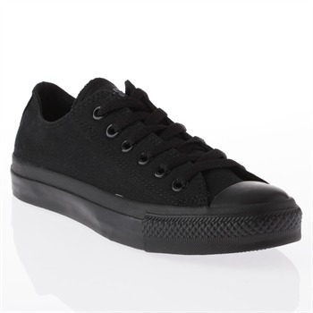 Converse Men's Black Canvas Black Toe Oxford Trainers