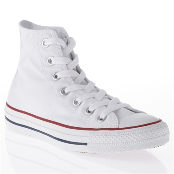 Converse Men's White Canvas High Top Trainers