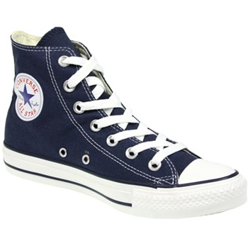 Converse Men's Navy Canvas White Toe High Top Trainers