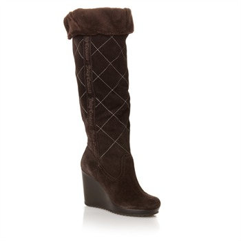 Juicy Couture Brown Montana Suede Long Boots 10cm Heel