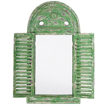 Fallen Fruits Green Mediterranean Style Mirror