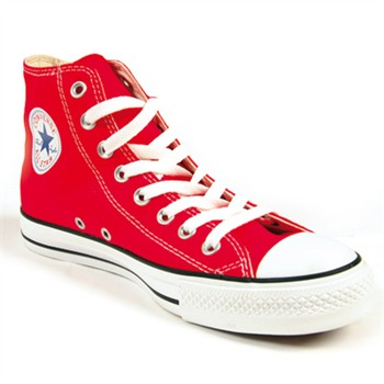 Converse Women's Red Canvas High Top Trainers