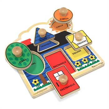 Melissa and Doug First Shapes Large Peg Puzzle
