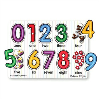 Melissa and Doug See-Inside Numbers Peg