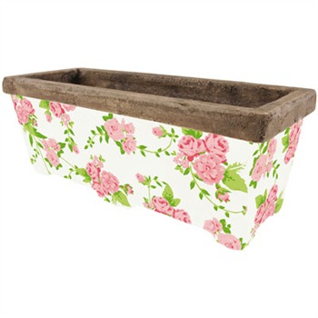 Fallen Fruits Rose Rectangular Planter