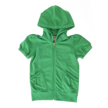 Juicy Couture Green Short Sleeved Hooded Top