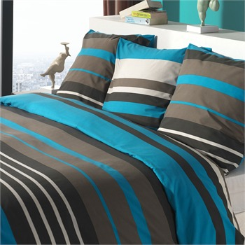 nuance housse de couette taie turquoise blanc d agate ref 505548 brandalley. Black Bedroom Furniture Sets. Home Design Ideas