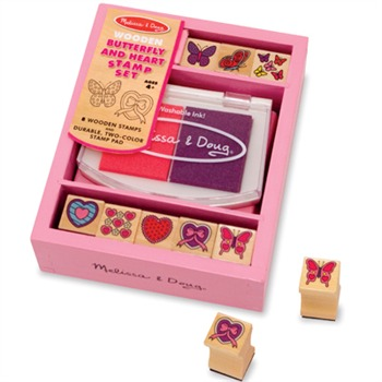 Melissa and Doug Butterfly/Hearts Stamp Set