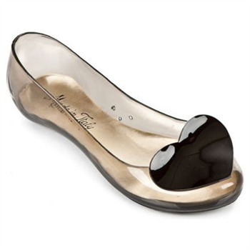 Ma Cri Transparent Grey/Black Venus Cupido Jelly Pumps