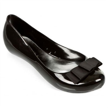 Ma Cri Black Venus Bow Jelly Pumps