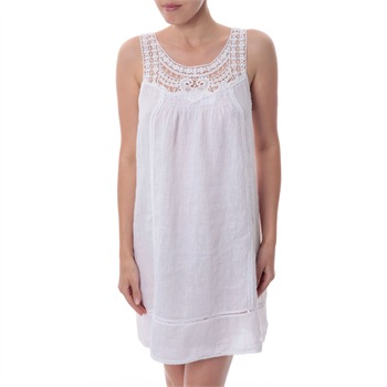 Paris Es Tyl White Elasticated Back Dress