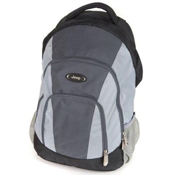 Jeep Grey/Black Leightweight Computer Backpack