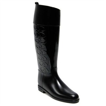Favolla Black Lucky Nero Wellington Boots 3cm Heel