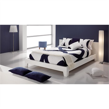 dessus de lit blanc et noir 235 x 270 cm bicolore manterol ref 630109 brandalley. Black Bedroom Furniture Sets. Home Design Ideas