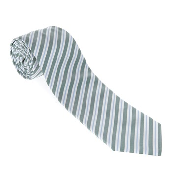Aquascutum Green/Blue Stripe Silk Tie