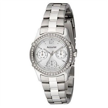 Accurist Watches Ladies Stainless Steel Multi Dial Bracelet Watch