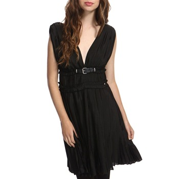 Miss Sixty Black Olympe Pleated Dress
