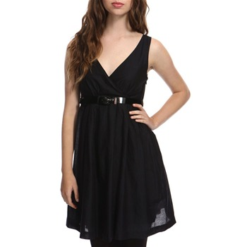 Miss Sixty Black V-Neck Dress