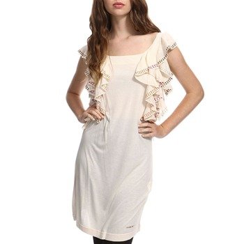 Miss Sixty Cream Shoko Embellished Dress