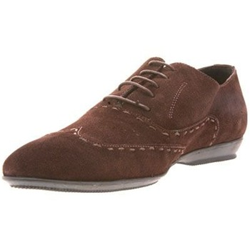 Torrente Brown Suede Stitch Lace-up Shoes