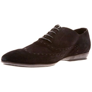 Torrente Black Suede Luciano Stitch Lace-up Shoes