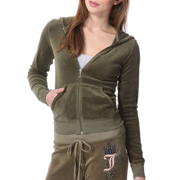 Juicy Couture Khaki Velour Hooded Top