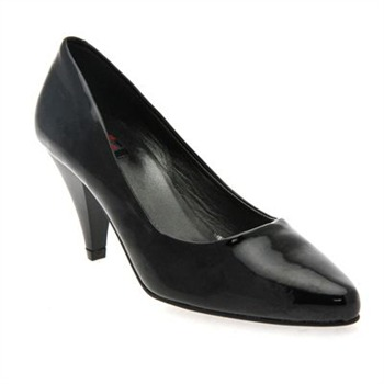 Rodier Black Jenifer Patent Court Shoes 7cm Heel