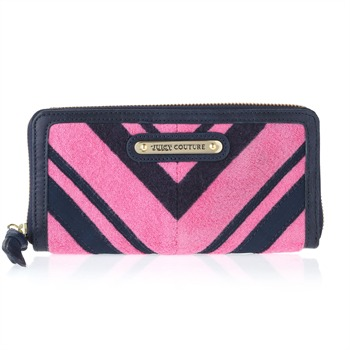 Juicy Couture Pink/Navy Striped Towelling Walllet