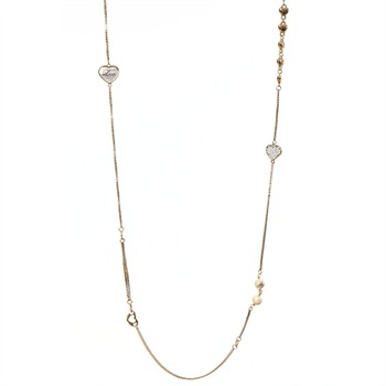 Juicy Couture Gold Long Heart Strand Chain