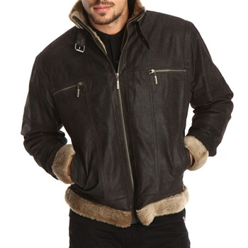 Gianni Feraud Brown Zip Up Nubuck Leather Jacket