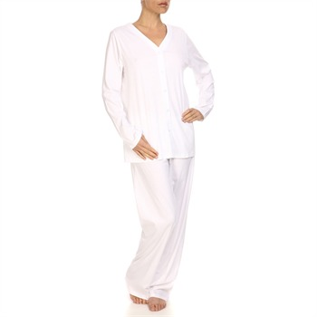 Hanro White Pure Affair Button Down Pyjamas 32