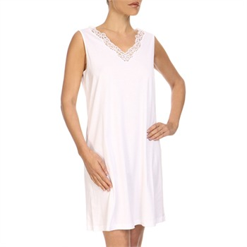 Hanro White Lace Collar Sleeveless Dress