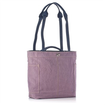 Francesco Biasia Mauve/Blue Handles Shopper