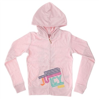 Juicy Couture Pink Long Sleeve Hooded Top