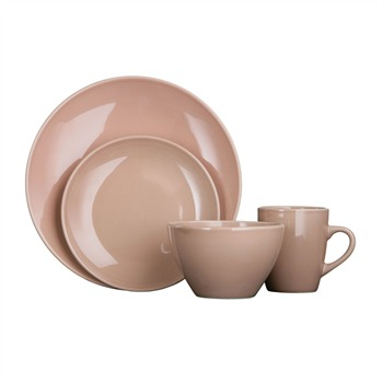 Premier Housewares Brown Sugar Sixteen Piece Cermaic Dome Dinner Set