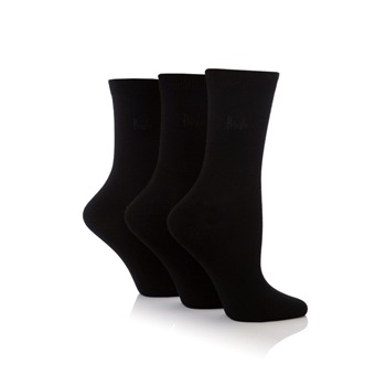 Pringle Pack of Three Black Tiffany Socks