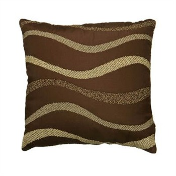 Premier Housewares Brown/Cream Waves Cushion