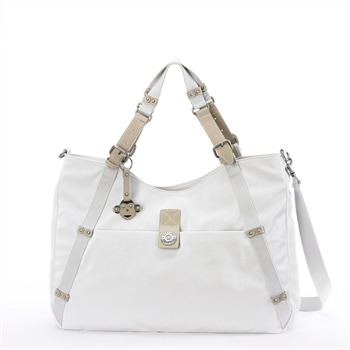 Kipling Cream Digi Jasmine Satchel Bag