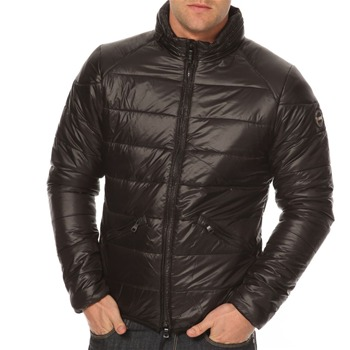 More Down Eight Black Zip Hooded Puffer Jacket