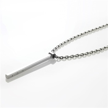 STORM Silver Scepter Logo Necklace