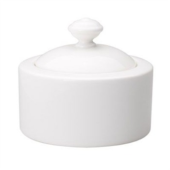 Villeroy & Boch White Twist Sugar/Jam Pot