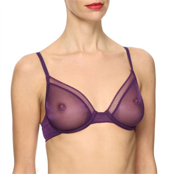 Huit Purple Shimmer Jalouse Soft Cup Bra