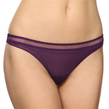 Huit Purple Shimmer Jalouse Thong