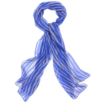 Jaeger London Colbolt Blue Wave Italian Silk Scarf