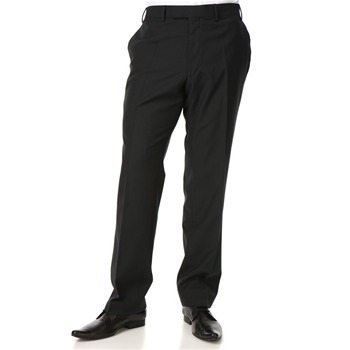 Jaeger London Black Micro Check Wool Trousers